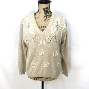I B Diffusion Vintage Beaded & Embroidered Sweater
